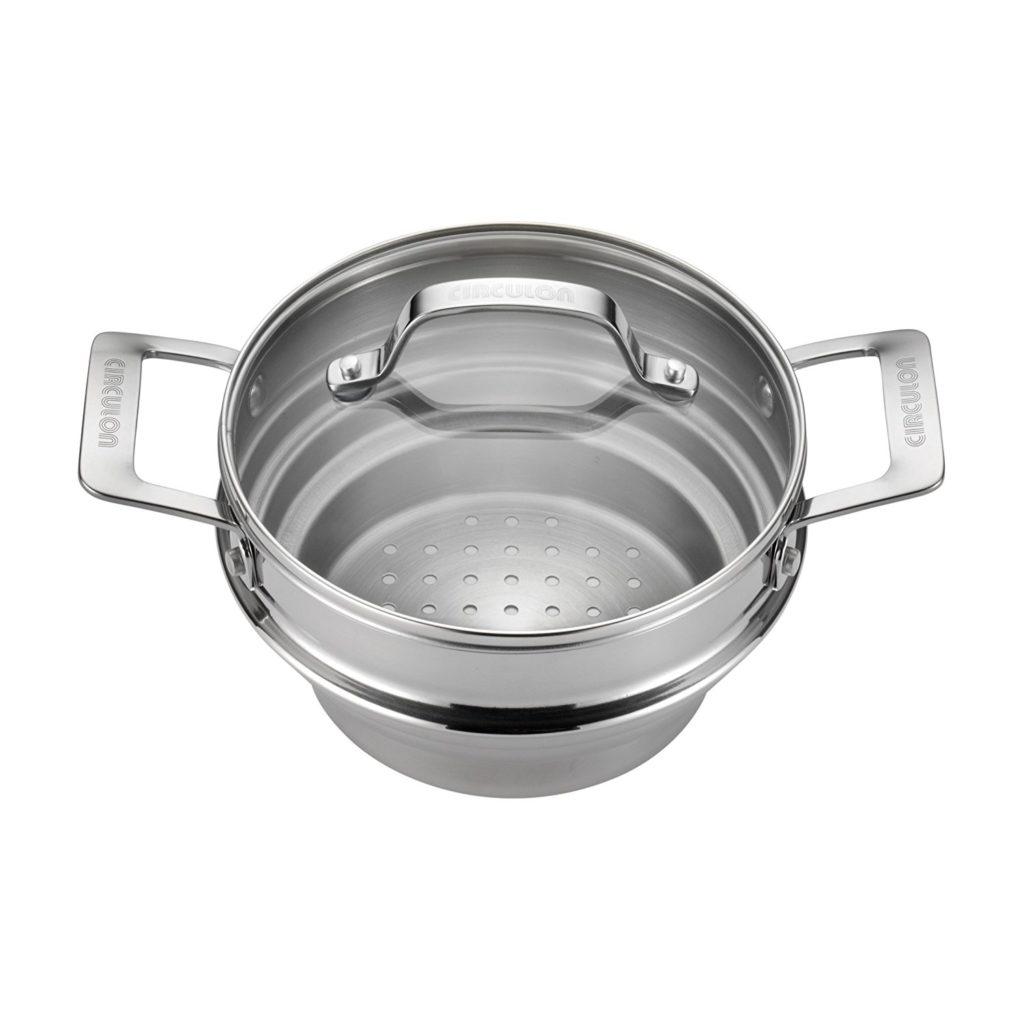stainless steel universal food steamer insert