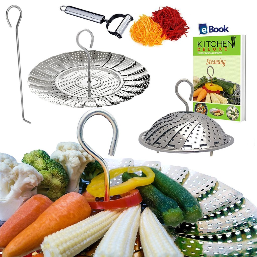 stainless steel collapsible steamer basket