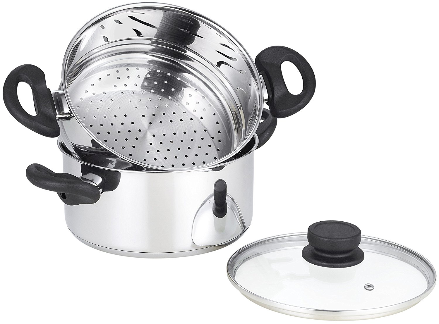 3 Qt Stainless Steel Food Steamer Pot With 2 Qt Steamer
