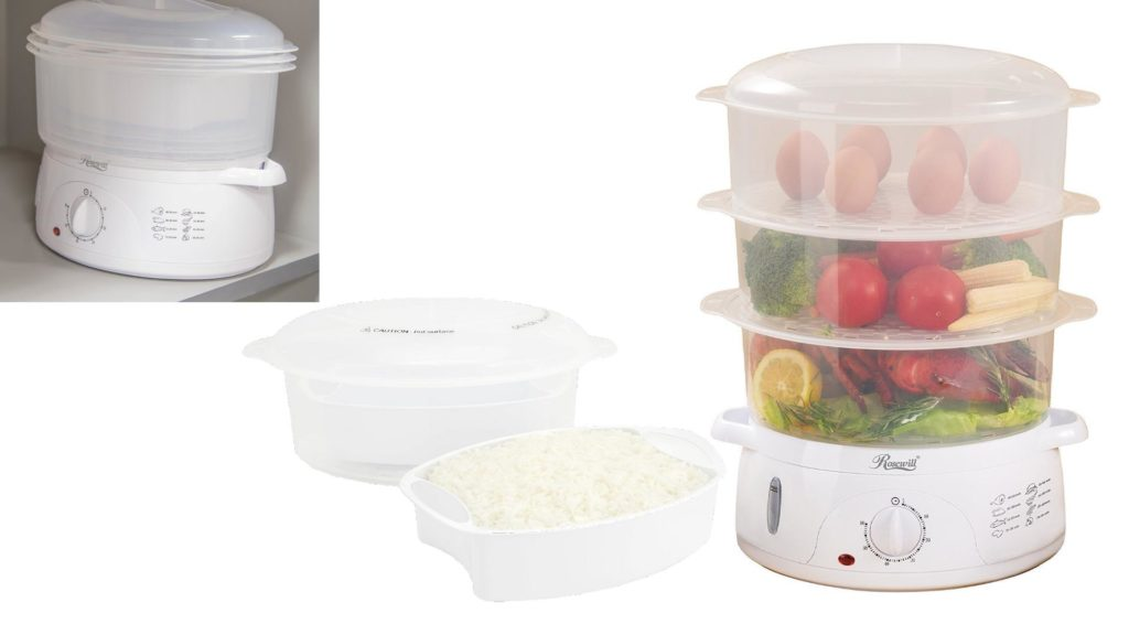 Large Electric Food Steamer ~ Rosewill electric bpa free quart food steamer w