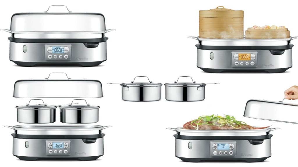 Stainless Steel Electric Vegetable Steamer ~ Breville bfs bss stainless steel food steamer best