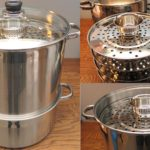 Large 5 tier metal cooking steamer pot for kitchen