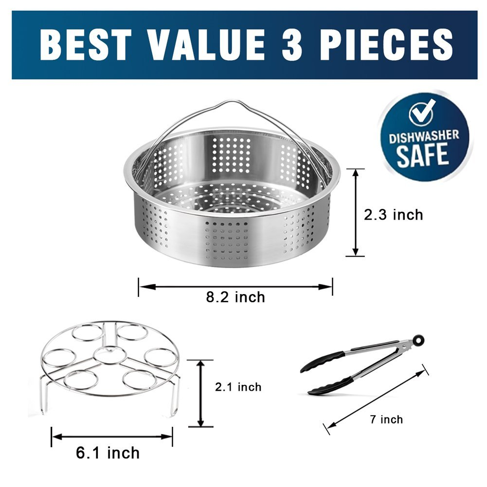*New* Stainless Steel INNER POT for INSTANT POT Dishwasher 3, 6, or 8qt QUARTS
