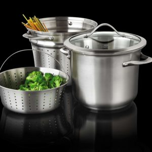 Calphalon 8 Quart Contemporary Pasta Pot And Steamer Insert Stainless Steel