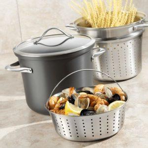 Calphalon 8qt Pasta Pot W Stainless Steel Pasta Strainer